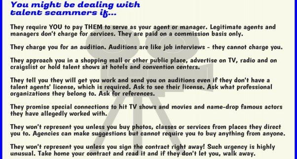 Legit Talent Agents on Disreputable TalentManagers