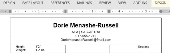 best solution on how to send an actor headshot resume via email